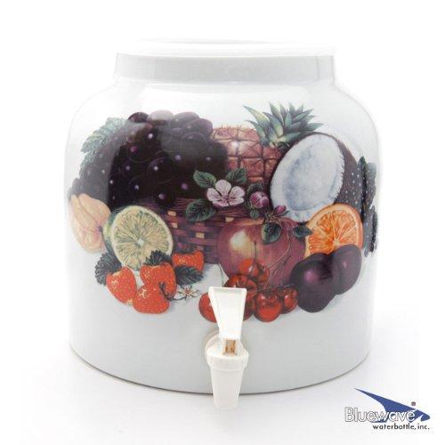 Bluewave Tropical Fruits Design Beverage Dispenser Crock