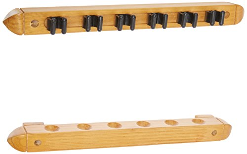 HJ-Scott-CR1022-6-Cue-Wall-Mount-Billiard-Cue-Rack-with-Cue-Clips