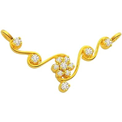 40270a0bc9e0 Buy Surat Diamond 18K Yellow Gold Diamond Pendant Online at Low Prices in  India
