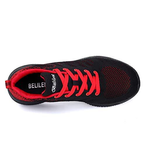 Rosso Mesily Casual Colorate Nero Da Correre E Palestra Scarpe Donna Camminare Traspiranti Comode Per Ginnastica n6fASBnRq