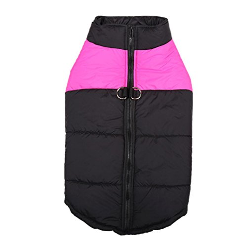 Whole Halloween Costumes - Pet Vest,Elevin(TM)New Hot Fashion Male Female Pet Waterproof Soft Padded Cloth Dog Winter Warm Cloth Pet Jacket Vest Coat Costumes (M, Hot Pink)