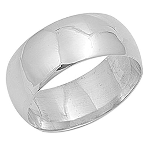 sterling silver wedding ring classic domed plain wedding