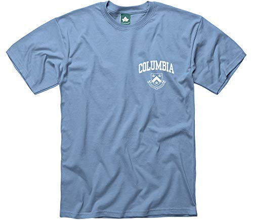 Ivysport Columbia University T-Shirt, Scholar Logo, Light Blue, -