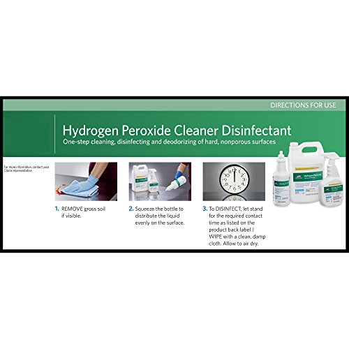 Clorox Healthcare Hydrogen Peroxide Cleaner Disinfectant, Refill, 128 Ounces
