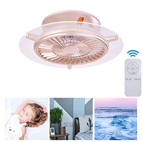 GAOLIQIN LED Ceiling Fans with Light,Dimmable Modern Acrylic Chandeliers with Remote,Flush Mount Ceiling Lamp Decoration Living Room Dinner Room(4 ABS Blades)