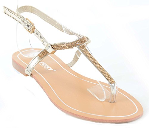 Thong Gold Formal Sparkly Flip Bling Flop Funky Fourever Sandals Jeweled Wedding xHfqY1Uv