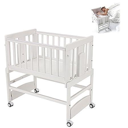 Minicuna COLECHO para bebe color Blanco. Práctica con un diseño innovador y funcional, siempre cerca y protegido, con 5 opciones: Minicuna, Minicuna colecho ...