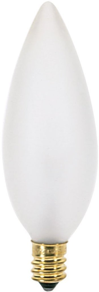 (10 Pack) Satco S3287 120-Volt 60-Watt B10 Candelabra Base Light Bulb, Frosted
