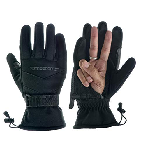 - Freedom Gloves Open Palm Ski Gloves Snowboard Gloves 3M Thinsulate Cold Weather Gloves...Black, M