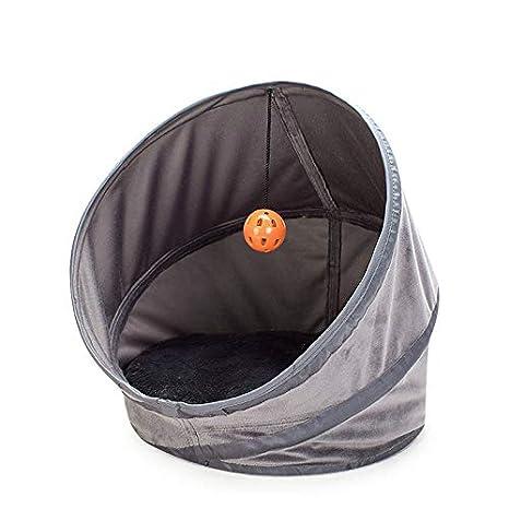 XIERU Cama Perro pequeño, Gato Cueva para Suave y cálida Manta Jaula de túnel Plegable-Gris-s: Amazon.es: Productos para mascotas