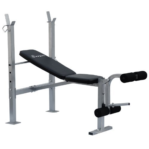 Soozier Incline/Flat Exercise Free Weight Bench w/Leg Extension