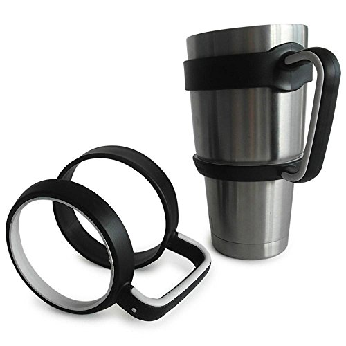 Portable Antislip Handle For 30 oz Yeti Rtic Cup Holder Tumbler Travel Cup Black