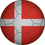 Denmark Flag Soccer Ball Home Decal Vinyl Sticker 12'' X 12''