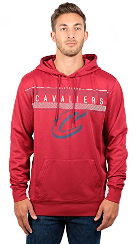 - UNK NBA Men's Fleece Hoodie Pullover Sweatshirt Poly Midtown, Wine, Small