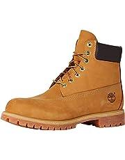 Timberland Men's Men's 6-Inch Premium Waterproof Boots, Wheat Nubuck, 8.5 US