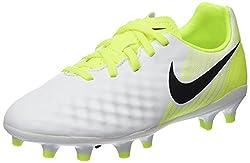 Nike Kids Jr Magista Opus Ii Fg Soccer (Toddlerlittle), Whiteblackvoltpure Platinum, 5.5 Big Kid M