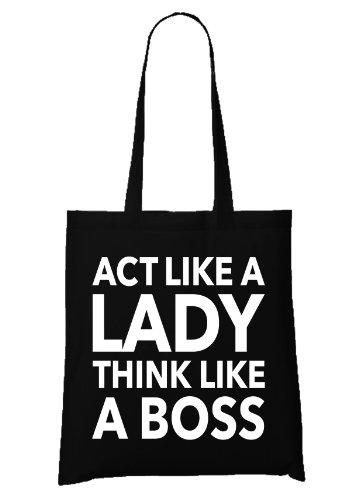 Act like a Lady Bag Black