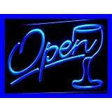 ADV PRO i536-b Script OPEN Glass Cocktails Bar Neon Light Sign