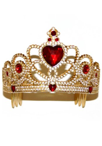 Princess Paradise Kids Red and Gold Honeycomb Tiara Crown, One -