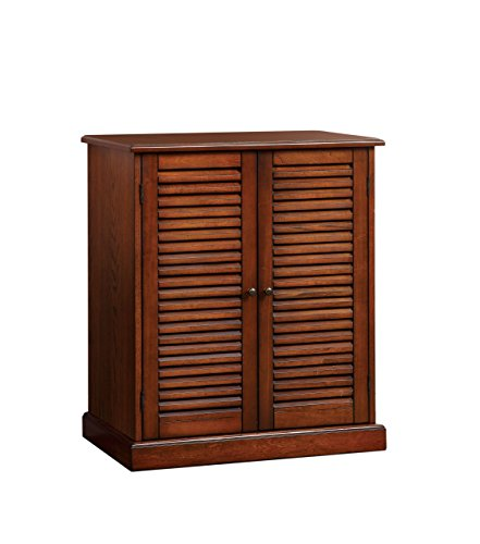 Furniture of America Laires 5-Shelf Enclosed Shoe Cabinet, Oak (Cabinet Shoe Oak)