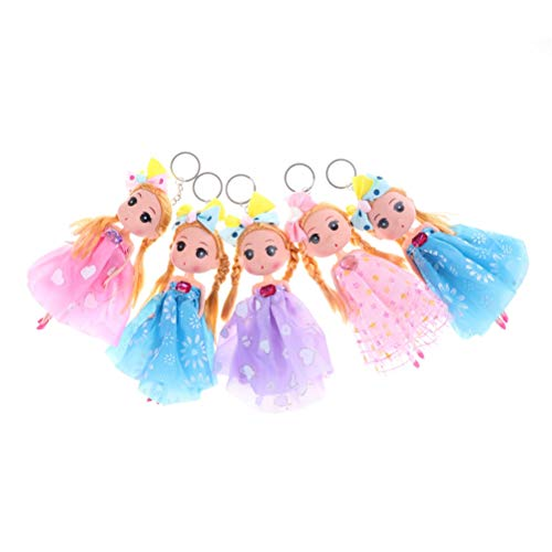 Matryoshka Pendant - 1pc 18cm Confused Doll Mini Ddung Keychian With Beautiful Dress Wedding Pvc Cloth Random Color - Masks Glasses Cube Japanese Mermaid Tags Orange Race Nursing Dark Ca ()