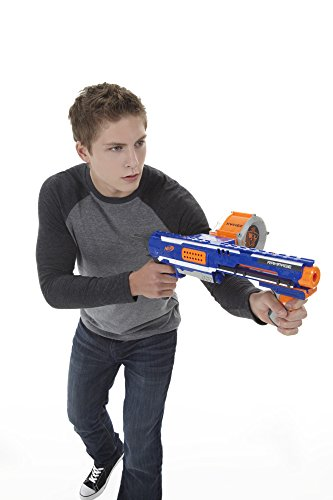 41vghEckRpL - Nerf Rampage N-Strike Elite Toy Blaster with 25 Dart Drum Slam Fire and 25 Official Elite Foam Darts For Kids, Teens, and Adults