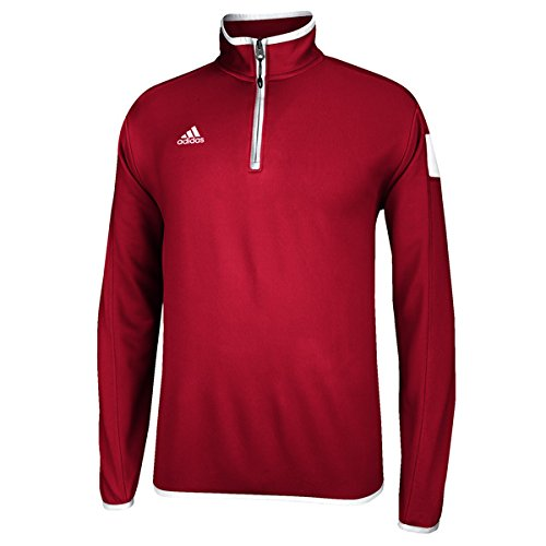 adidas climalite Shockwave 1/4 Zip Long sleeve, Power Red/White, Medium by adidas