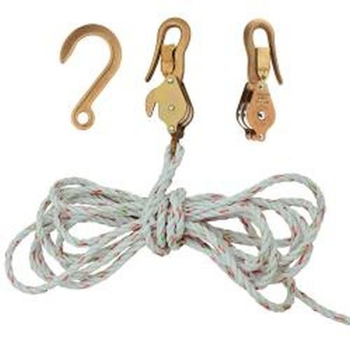 Klein Tools H1802-30SR Block and Tackle with Guarded Snap Hooks with Rope by Klein