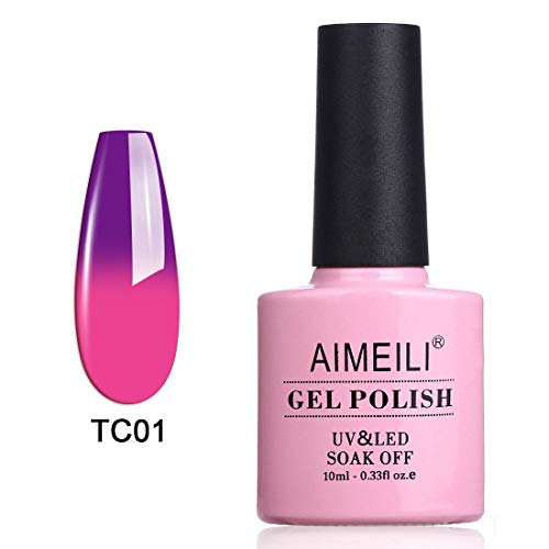 AIMEILI Soak Off UV LED Temperature Color Changing Chameleon Gel Nail Polish - Arabian Nights (TC01) 10ml]()