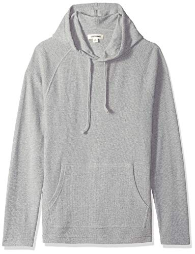 Goodthreads Men's Long-Sleeve Slub Thermal Pullover Hoodie, Heather Grey, Medium (Pullover Mens Thermal Hoodie)