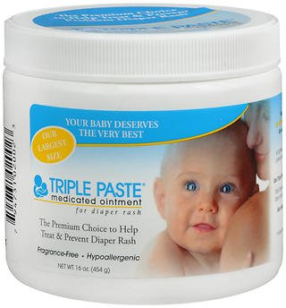 Triple Paste Medicated Ointment for Diaper Rash - 16 oz, Pack of 4