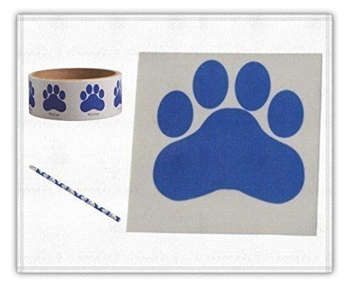Art Tattoo Tigers - Blue Paw School Spirit Pack ( Stickers, Tattoos & Pencils) 268 Pieces