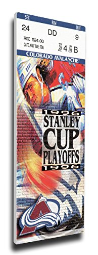 1996 NHL Stanley Cup Finals Canvas Mega Ticket - Colorado Avalanche