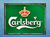 PaBoe Grunge Carlsberg Beer Mancave Tin Wall Door Bar Sign Vintage Retro Tin Metal Decor Sign Home Wall Decor 8x12