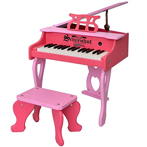 Schoenhut 30 Key Digital Baby Grand Piano, Pink