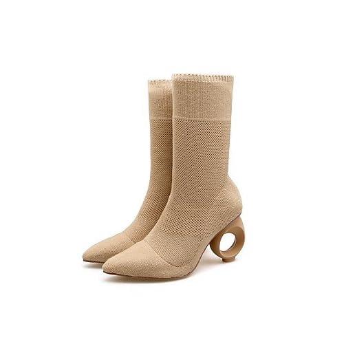 c65f4168 Desy de zapatos de mujer materiales personalizados talón de cono de otoño  invierno botas de moda