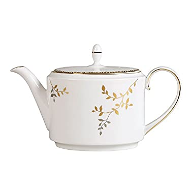 Wedgwood Gilded Leaf Teapot, 1.4 L, White