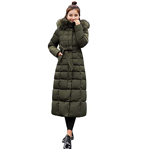 - Sunyastor Hooded Down Jacket Women,Fashion Long Cotton-Padded Fur Collar Coat Winter Pocket Outerwear