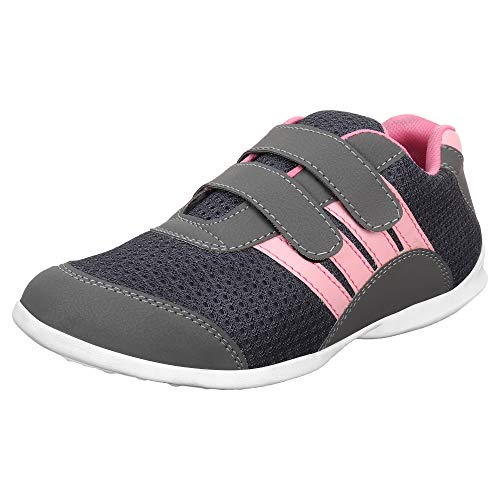 AUTHENTIC VOGUE Women's Multi-Sports Running/Jogging Shoes in Ultra Lightweight Sole-Grey & Pink