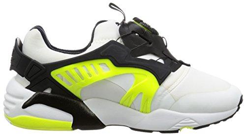 Puma, Uomo, Disc Blaze Electric Black Yellow, Tessuto tecnico, Sneakers, Bianco