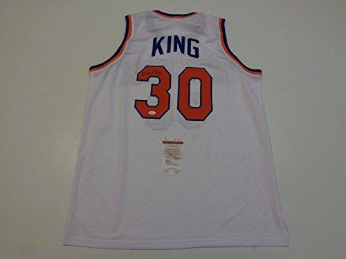 BERNARD-KING-signed-autographed-Knicks-white-Jersey-JSA-Witness