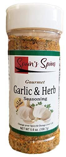 Spain's Gourmet Garlic & Herb Seasoning – Low Sodium, Gluten Free, Sugar Free, No MSG, No GMO, No Preservatives (5.6 oz)