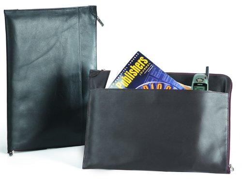 Clava Quinley Leather Underarm Folder Holder in Black - Underarm Leather Briefcase
