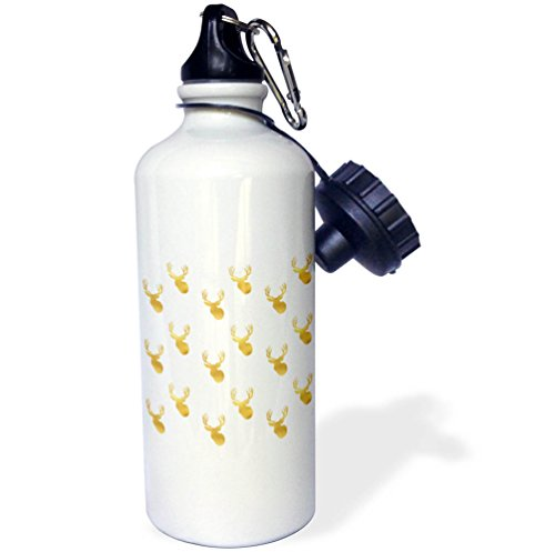 3dRose PS Animals - Image of Gold Glitz Deer - 21 oz Sports Water Bottle (wb_274218_1)