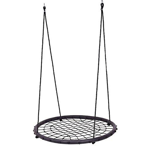 アウトドア子供ツリーラウンドスイングNetキッズ幼児用Garden Hangingロープネスト40
