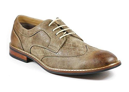Zapatillas De Vestir Para Hombre Ferro Aldo 19266 Con Punta De Ala Con Cordones Oxford