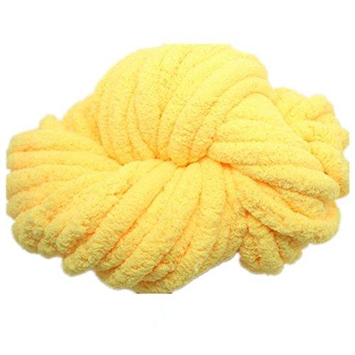 Celine lin Super Soft Chunky Roving Big Yarn for Hand Knitting Crochet, 250g(8.8 Ounze),Yellow (Chunky Healthy)