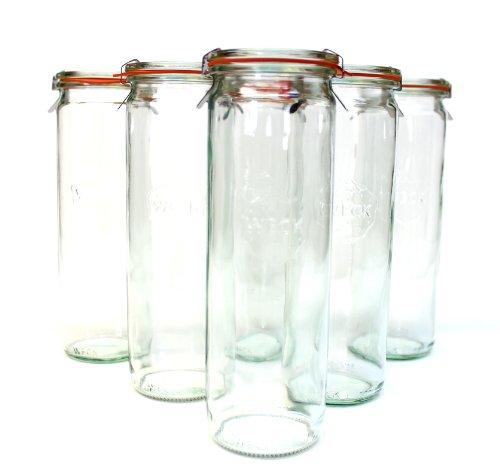 Weck Cylinder Canning Jar; SET of 6 -