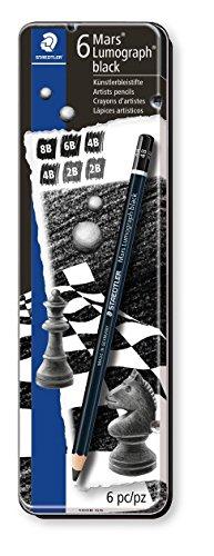 Pencil Lumograph (Staedtler Drawing or sketch pencils Wood (100B G6))
