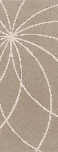 Surya Forum FM-7185 Contemporary Hand Tufted 100% Wool Safari Tan 2'6'' x 8' Abstract Runner by Surya
